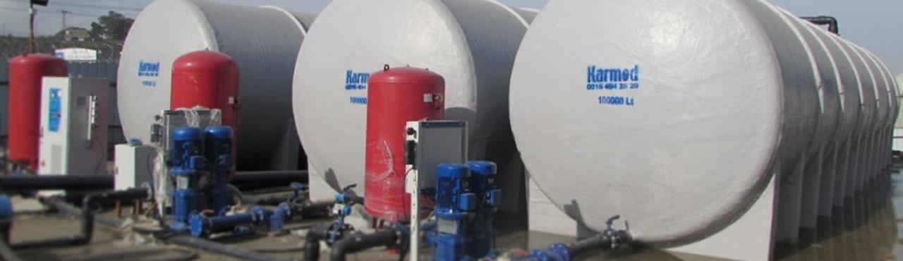 3. Havalimanında Karmod 100 Ton Su Depoları